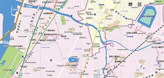 観光マップ制作見本