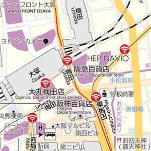地図の中の文字