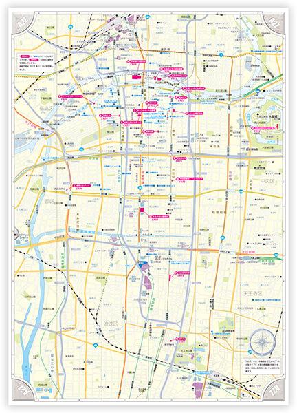 大阪観光マップ 裏面