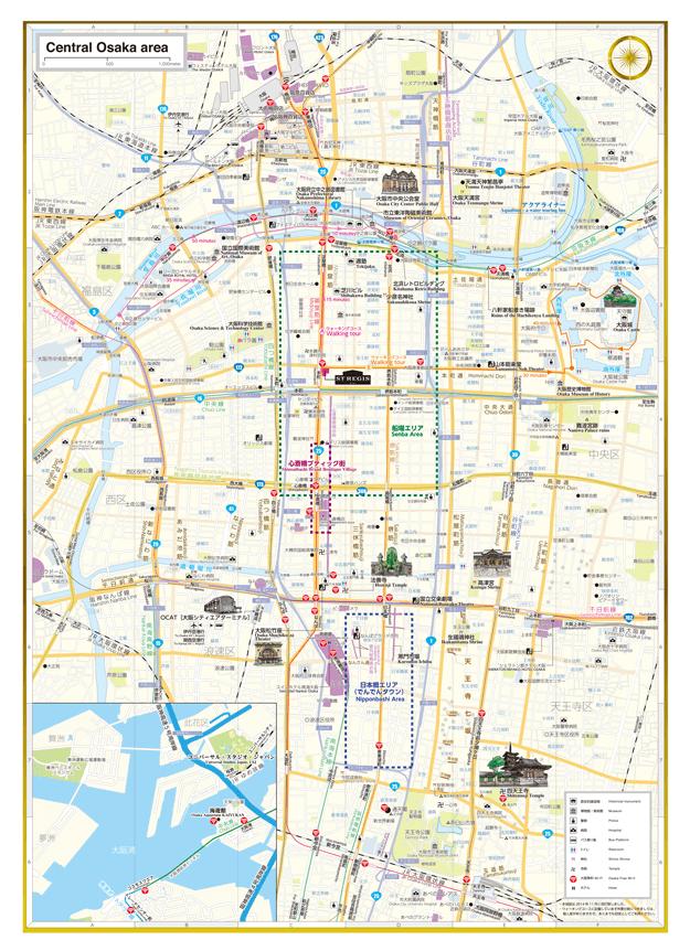 セントレジスホテル 観光マップ 地図面