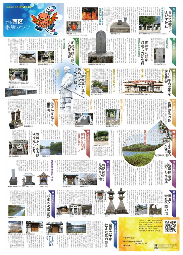 堺西区 観光マップ表面